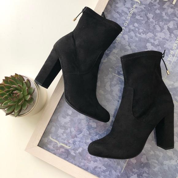 ca7ad53580538 NEW Women s Sock Ankle Black Booties Heels Boots